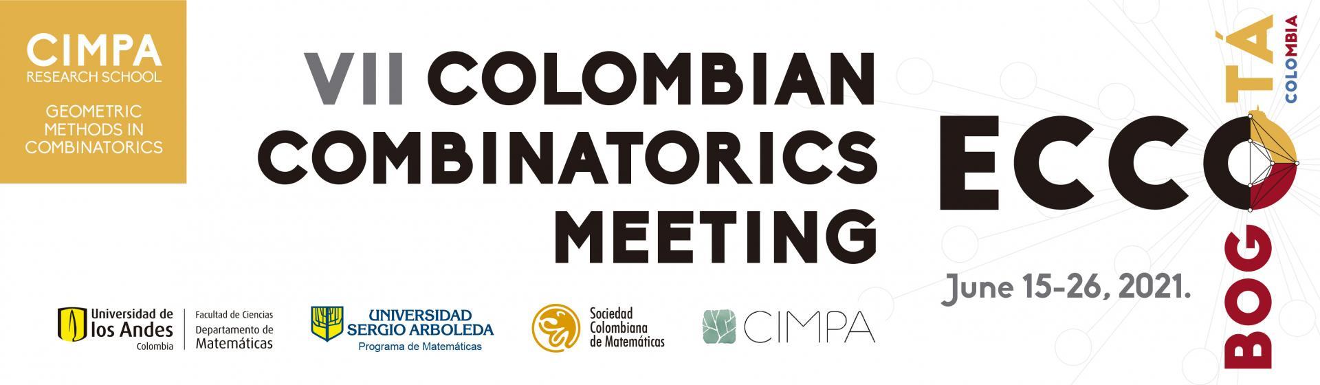 Encuentro Colombiano de Combinatoria Matemáticas | Uniandes
